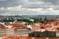 Panorama of Prague Stock Photos