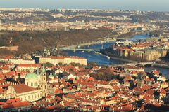 panorama prague Royaltyfria Bilder