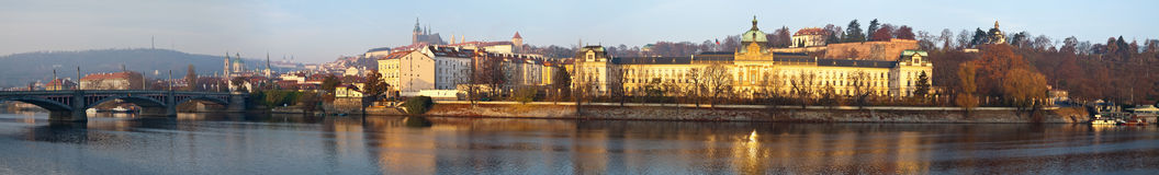 Panorama of Prague Royalty Free Stock Photography