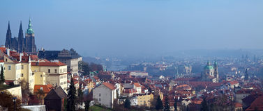 Panorama of Prague Royalty Free Stock Photos
