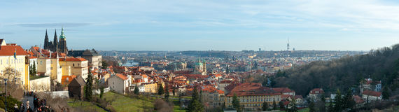 Panorama of Prague Stock Photos