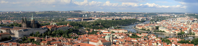 Panorama of Prague. (Europe, Czech Republic Stock Photo