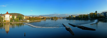 panorama prague Royaltyfri Bild