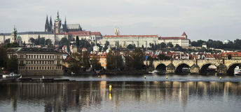 panorama Prague Obrazy Royalty Free