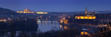 panorama Prague fotografia stock