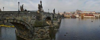 panorama prague royaltyfria bilder