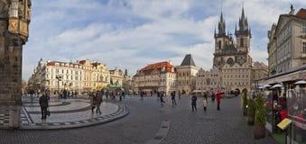 Panorama Prague Photos libres de droits