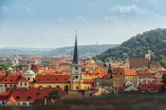 Panorama Prague Images libres de droits