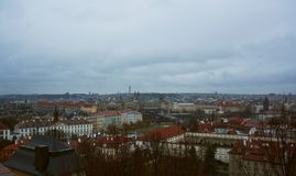 Panorama of Prague. royalty free stock images