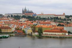Panorama of Prague Castle Royalty Free Stock Photo