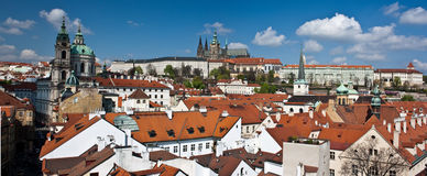Panorama of Prague castle Stock Photos