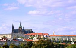 Panorama of Prague Castle Stock Photography