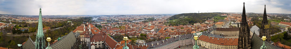 Panorama of Prague Stock Image