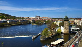 Panorama of the Prague Castle, old houses, Prague, Czech Republic Royalty Free Stock Photo