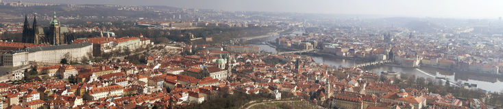 Panorama of Prague city Royalty Free Stock Photography