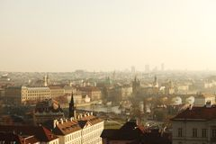 Panorama of Prague Czech Republic Stock Photography