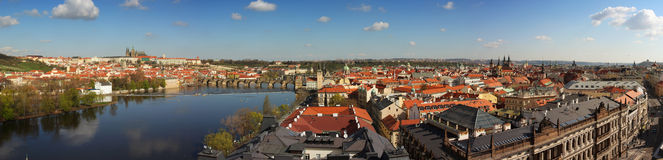 Panorama of Prague, Czech Republic. Panorama of old town of Prague, Czech Republic Stock Photos