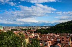 Panorama Prague, Czech Republic Stock Photography