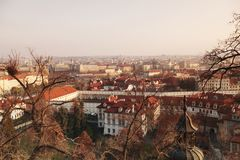 Panorama of Prague Stock Images