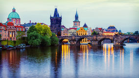 Panorama of Prague, Czech Republic Royalty Free Stock Images