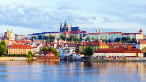 Panorama of Prague, Czech Republic Royalty Free Stock Photo