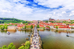 Panorama of Prague, Czech Republic Stock Photography