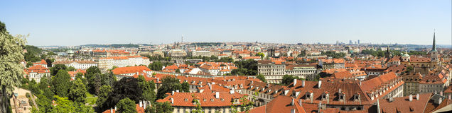 Panorama of Prague, Czech Republic Royalty Free Stock Photos