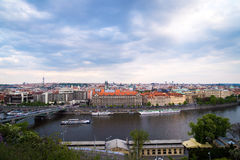Panorama of Prague, Czech Republic Stock Photo