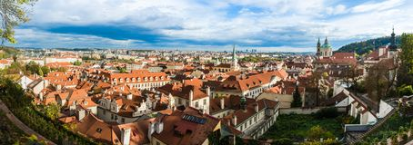 Panorama of Prague, Czech Republic Stock Images