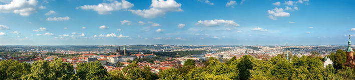 Panorama of Prague, Czech Republic Stock Image