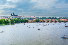 Panorama of Prague, Czech Republic. Royalty Free Stock Photos