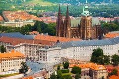 Panorama of Prague Hrad Stock Photos