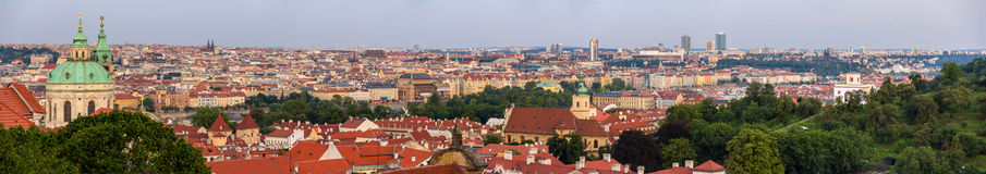 Panorama of Prague from Hradcany - Czech Republic Stock Photography