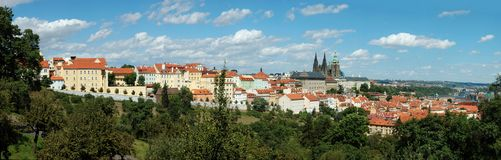 Panorama of Prague old city, Czech Republic Royalty Free Stock Images
