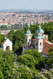 Panorama of Prague from Petrin Hill Royalty Free Stock Image