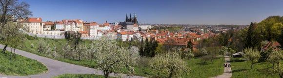 Panorama of Prague from Petrin hill Royalty Free Stock Photos