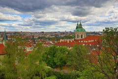 Panorama of Prague, Prague Castle, Hrad�any, Prague, Czech Republic Stock Photo