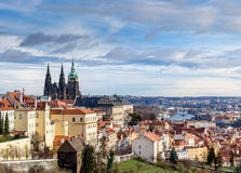 panorama- prague sikt Royaltyfri Foto