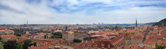 Panorama of Prague in summer day, Czech Republic Stock Image