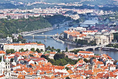 Panorama Of Prague. Top view Stock Image