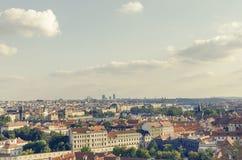 Panorama of Prague. View from above. Stock Photos