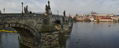 Panorama Prague Royalty Free Stock Images