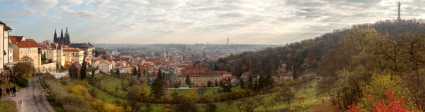 Panorama Prague Royalty Free Stock Photos