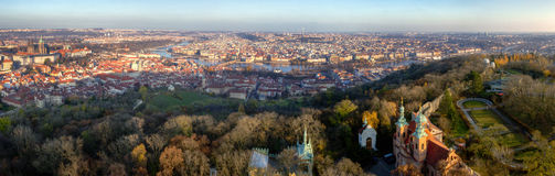 Panorama Prague Royalty Free Stock Photo