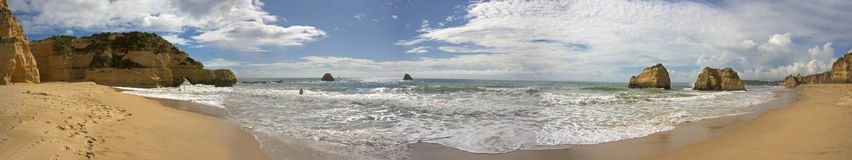 Panorama at Praia da Rocha Portugal Royalty Free Stock Photography