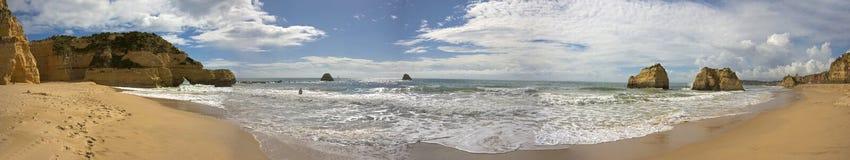 Panorama at Praia da Rocha Portugal Royalty Free Stock Photography