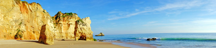 Panorama from Praia da Rocha in Portugal Stock Image