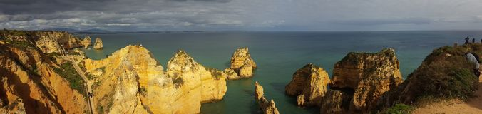 Panorama of Praia Dona Ana Royalty Free Stock Photos