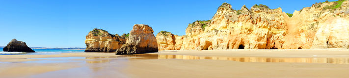 Panorama from praia Tres Irmaos in Alvor Portugal Stock Photo