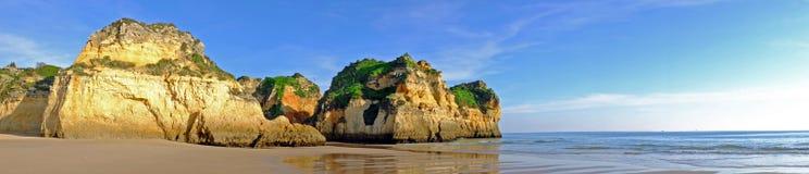Panorama from Praia Tres Irmaos  Portugal Stock Photos